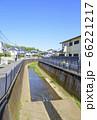 青空と善福寺川の風景(東京都杉並区) 66221217