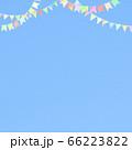 青空とガーランドの背景 66223822