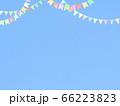 青空とガーランドの素材 66223823