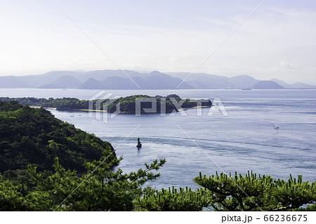 鷲羽山から眺める釜島 岡山県倉敷市 66236675