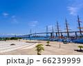 富山・立山連峰と新湊大橋・海王丸 66239999