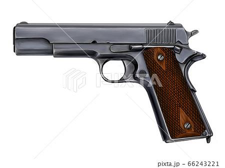 M1911コルト・ガバメントのイラスト 66243221