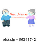 Social distancing between old man and old woman 66243742