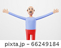 man with an open hands for hugging welcoming his friends. 3d illustration 66249184