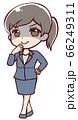 悪だくみをするアニメ風の女性会社員 66249311