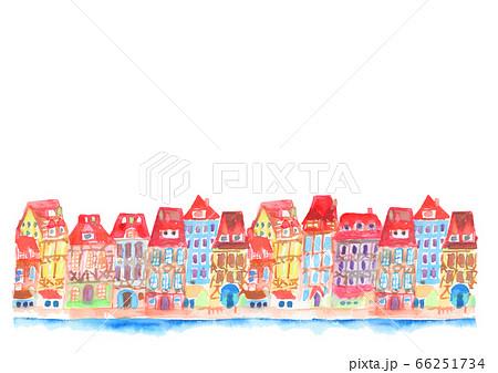 街並み 町並み イラスト 背景 可愛い フランス  66251734