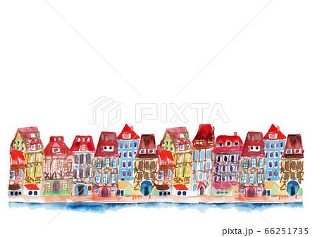 街並み 町並み イラスト 背景 可愛い フランス  66251735