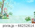 庭 ナチュラルライフの風景イラスト 66252614