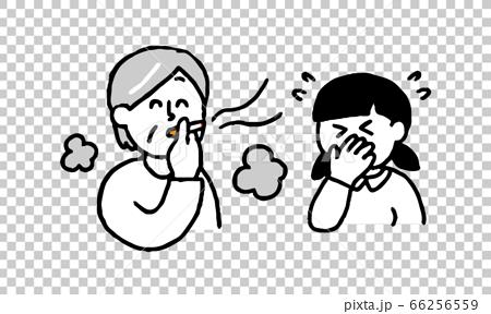 抽煙的高級女士和不喜歡煙熏味的女孩(簡單) 66256559