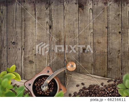 コーヒー豆をイメージした素材 66256611