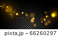 Vector golden particles, sparkling bokeh lights isolated on transparent background 66260297