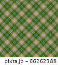 茶、灰色、緑のアースカラーのチェック柄、十字細ラインのアクセント 土と苔をイメージ 66262388