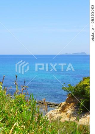 夏井ヶ浜はまゆう公園から見た響灘のはるかな水平線 66265038