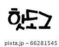 Hot Dog hand written in korean food name in hangeul  66281545