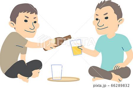 ビールを一緒に愉しむお父さんと息子 - 夏ver 66289832
