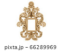 Golden vintage frame. Isolate mirror. Design retro element. physical realistic reflection . 66289969