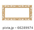 Golden vintage frame. Isolate mirror. Design retro element. physical realistic reflection . 66289974