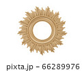Golden vintage frame. Isolate mirror. Design retro element. physical realistic reflection . 66289976