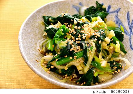 ネギとほうれん草のナムル韓国風 イメージ 66290033