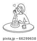 人物 女性 シンプルイラスト クッキング 66299638