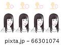 美容イラスト_顔型別ヘアスタイルイラスト 66301074