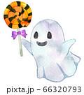 水彩_ペロペロキャンディを持つゴースト 66320793