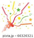 赤と銀の水玉のクラッカー 66326321