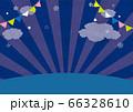 夜空と広場のイラスト ナイトマーケット 66328610