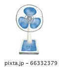 レトロ扇風機 水彩イラスト風 66332379