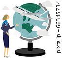旅行,飛行機,地球儀,イラスト,CA 66345734