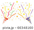 赤と紫のパーティークラッカー 66348160
