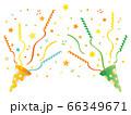 オレンジと緑のパーティークラッカー 66349671