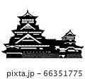 熊本城 シルエット 66351775