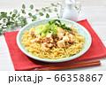 オリジナル料理のマーボー焼きそば、麻婆ヤキソバ、麻婆焼そば。 66358867