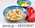 コロナ対策に!ビタミンDチャーハン(ビタミンD食材炒飯)!銀鮭(シャケ)+キクラゲ+卵(万能栄養素) 66359697