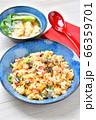 コロナ対策に!ビタミンDチャーハン(ビタミンD食材炒飯)!銀鮭(シャケ)+キクラゲ+卵(万能栄養素) 66359701