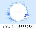 背景 夏 イルカ 66360341