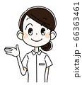 手を広げる・看護師の女性 66363461