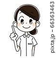 チェックポイント・看護師の女性 66363463