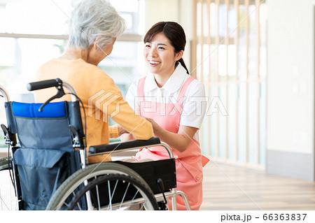 介護 女性 病院 ヘルパー 介護士 シニア 66363837