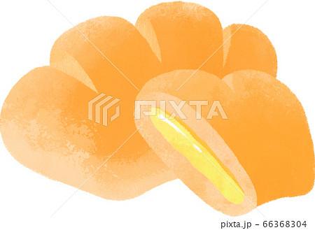 おいしそうなクリームパン 66368304