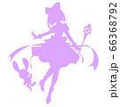 魔法少女風のシルエットイラスト 66368792