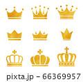 水彩画の王冠のアイコンセット 66369957