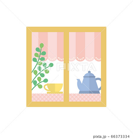 窓 窓辺 イラスト 66373334
