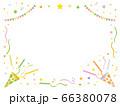 金と銀のパーティークラッカーのフレーム 66380078