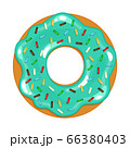 vector illustration of colored realistic donut on white background 66380403
