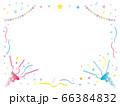 ピンクとブルーのパーティークラッカーのフレーム 66384832