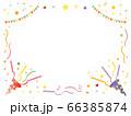 赤と紫のパーティークラッカーのフレーム 66385874