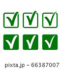 vector tick signs set on white background 66387007