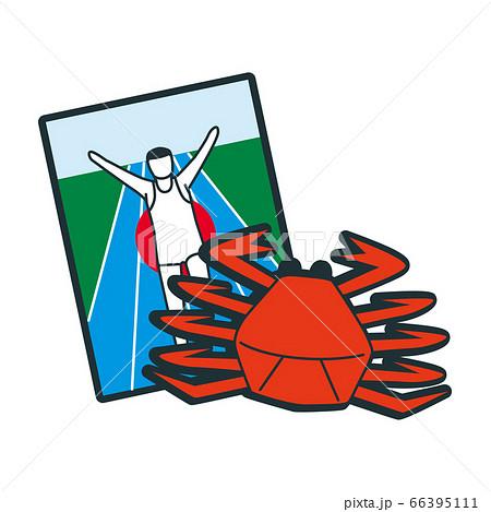 蟹など大阪のイメージアイコン。 66395111